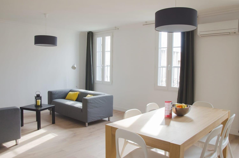 Appartement confortable et meublé à Marseille Castellane