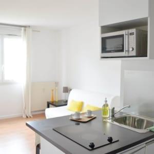 grande pièce d'un appartement meublé moderne