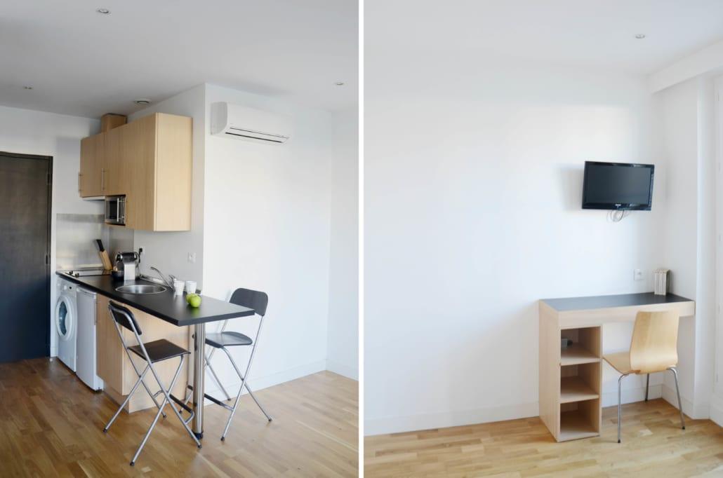 studio meublé et moderne