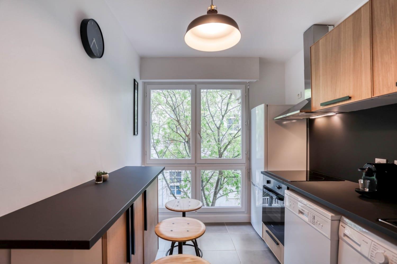 Cuisine d'une maison en colocation à Montpellier Antigone