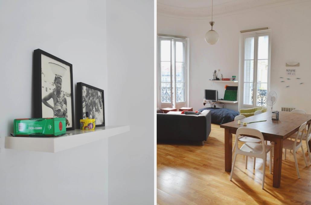 salon de grande colocation meublée moderne