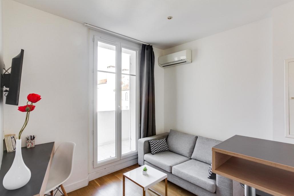 salon moderne appartement meublé