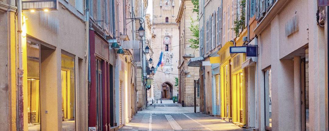 Rue centre ville aix en provence